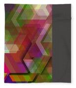 Dark Colorist Geometric Composition Fleece Blanket