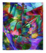 Colors And Geometries For A Violin  Fleece Blanket