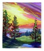 Colors In The Sky Fleece Blanket