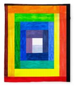 Colors Into One Fleece Blanket