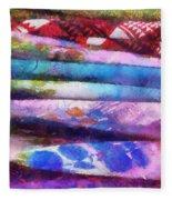 Colors Material Horizontal Pa 02 Fleece Blanket
