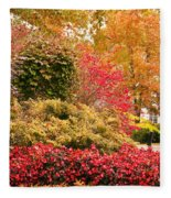 Colors Of Autumn  Fleece Blanket