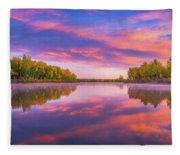 Colors Of Chatfield Fleece Blanket