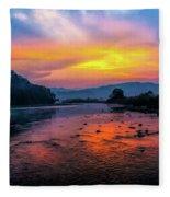 Colors Of Dawn Fleece Blanket