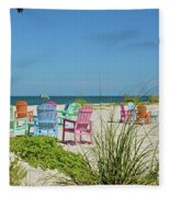 Colors Of The Seats Fleece Blanket