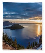 Colors Of The Spring Morning At Discovery Point Fleece Blanket