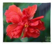 Colors Of The Tropics Hibiscus Fleece Blanket