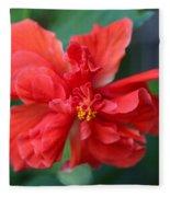 Colors Of The Tropics Hibiscus Fleece Blanket