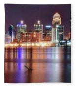 Colors On The Louisville Riverfront Fleece Blanket