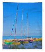 Colors On The Shore Fleece Blanket