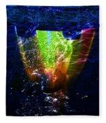 Colorscope Collage In Water Fleece Blanket