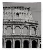 Colosseum Or Coliseum Black And White Fleece Blanket