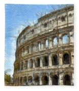 Colosseum Or Coliseum Pencil Fleece Blanket
