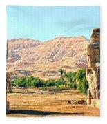 Colossi Of Memnon Fleece Blanket