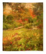 Colour Explosion In The Japanese Gardens Fleece Blanket