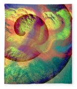 Colour Spiral Fleece Blanket