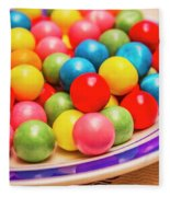 Colourful Bubblegum Candy Balls Fleece Blanket