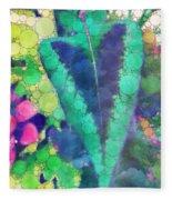 Colourful Leaves Fleece Blanket