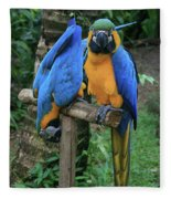 Colourful Macaw Pohakumoa Maui Hawaii Fleece Blanket