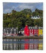 Colourful Tobermory Fleece Blanket