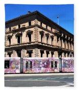 Colourful Tram At Old Treasury Building Fleece Blanket