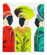 Colourful Trio - Original Artwork Fleece Blanket