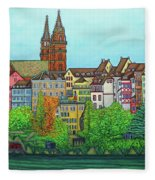 Colours Of Basel Fleece Blanket