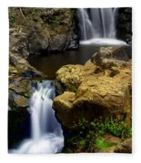 Columba River Gorge Falls 2 Fleece Blanket