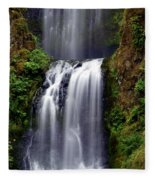 Columba River Gorge Falls 3 Fleece Blanket