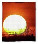 Columbia Gorge Sunset Fleece Blanket