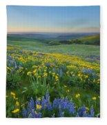 Columbia Hills Wildflower Dawn Fleece Blanket