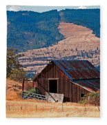 Columbia River Barn Fleece Blanket