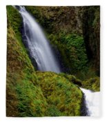 Columbia River Gorge Falls 1 Fleece Blanket