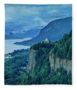 Columbia River Gorge Panoramic Fleece Blanket