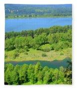 Columbia River Gorge View Fleece Blanket