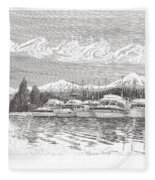 Columbia River Raft Up Fleece Blanket