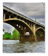 Columbia S C Gervais Street Bridge Fleece Blanket