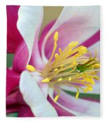 Columbine Flower 2 Fleece Blanket