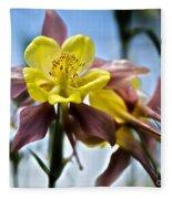 Columbine Flower Fleece Blanket