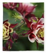 Columbine In Spring Fleece Blanket