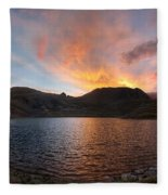 Columbine Lake Sunset - Weminuche Wilderness - Colorado Fleece Blanket
