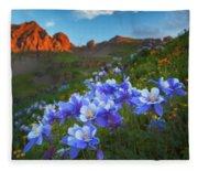 Columbine Sunrise Fleece Blanket