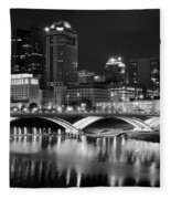 Columbus Black Night Fleece Blanket