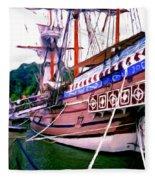 Columbus Day Celebration Fleece Blanket