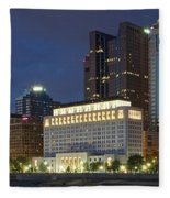 Columbus Night Panorama Fleece Blanket