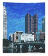 Columbus Ohio Fleece Blanket