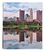 Columbus Ohio Reflects Fleece Blanket