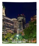Columbus Park Boston View Fleece Blanket