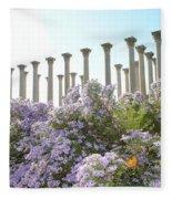 Column Flowers To The Sky Fleece Blanket