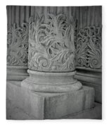 Column Of Mount Vernon Place Fleece Blanket